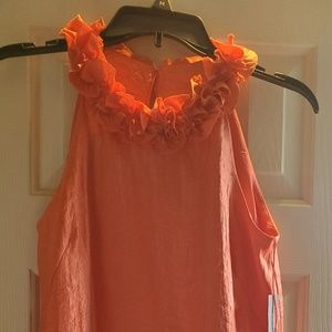 Orange Cocktail dress nwt